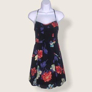 3/$20 American Eagle Floral Strappy Dress Black S